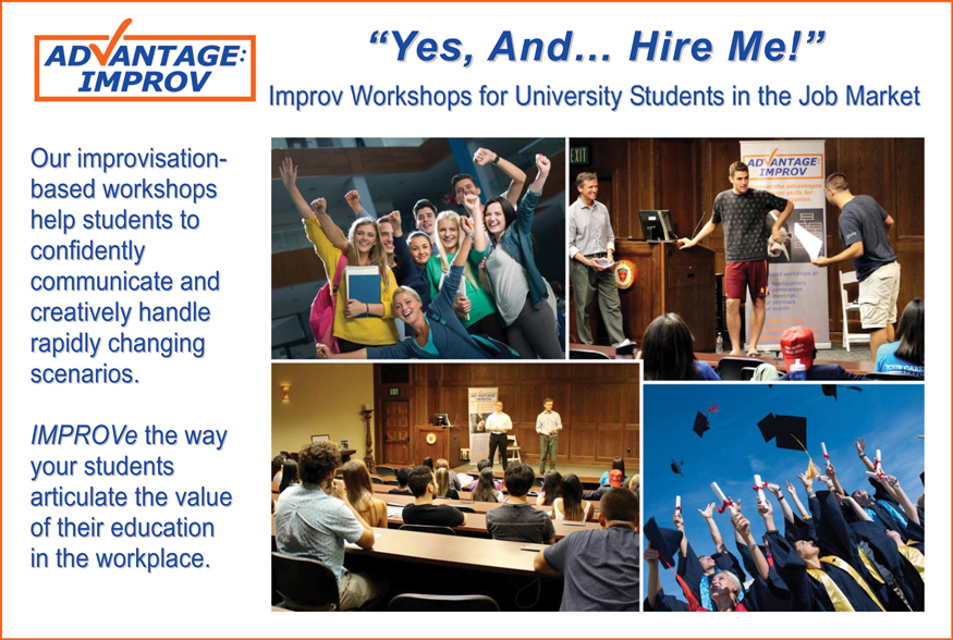 Advantage Improv's Yes And Hire Me workshop