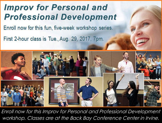 improv for personal and professional development workshop