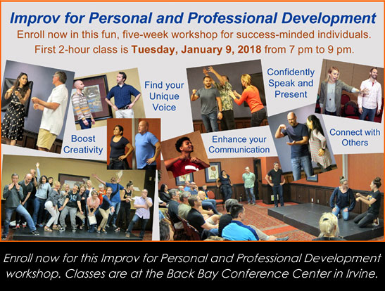 Enroll now for the next Improv for Personal and Professional Development workshop