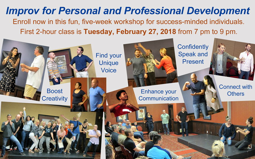 Enroll now for the Advantage Improv's Feb 27 Improv for Personal and Professional Development (IPPD) workshop
