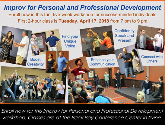 Enroll now for the April 17 Improv for Personal and Professional Development workshop