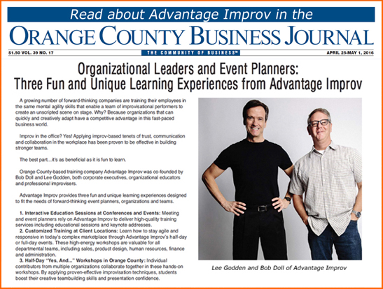Read about Advantage Improv for conference and event planners