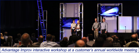 Advantage Improv interactive workshop at a client's annual meeting